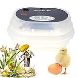 incubateur Huevo, incubateur de Huevo automático Digital Control de la Temperatura y la Humedad 9-12Huevos Incubation de Aves (Eclosion para Couver Huevo de Pato Pollo Aves codorniz incubadora