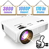 DR.Q 1800 Lumens Projector, 4 Inch Mini LCD Projector with 170 Inch Display