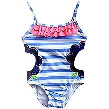 df706c1ed282 PAOLIAN Monos Ropa de Playa para Niñas Traje de Baño para Niñas ...