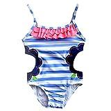 Comfysail Bañador de Un Pieza para Niñitas Bebé Niña Bikini de Raya 1-14 Años