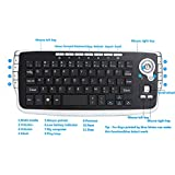 Outtop Mini 2.4Ghz Wireless Keyboard Touchpad With Mouse For PC PS4 Smart TV