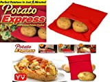 JACKET POTATO EXPRESS MICROWAVE COOKER BAG 4 MINUTES FAST REUSABLE WASHABLE COOK