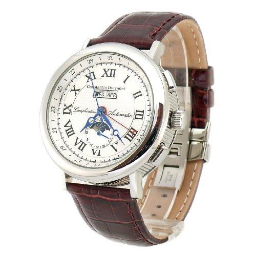 Constantin Durmont Austin CD2551276WH - Reloj de mujer de cuarzo, correa de piel color marrón