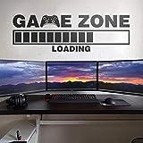 Juego Grande Vinilo Adhesivo de Pared Cargando Gamer Zona de Juego de Video Computadora Sala de Juegos Pegatinas de Pared Decoración para el hogar Dormitorio Murales 132x42 cm