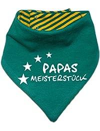 mitwachsendes Baby - und Kinder Wende - Halstuch Papas Meisterstueck / in 7 Designs / Größen 0-36 Monate