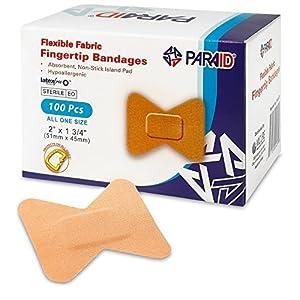 Flexible Pflaster Verbände – Biegbares Material, Selbsthaftende Fingerkuppenpflaster für die Pflege und Schutz von Wunden vor Infektionen (100er Packung)