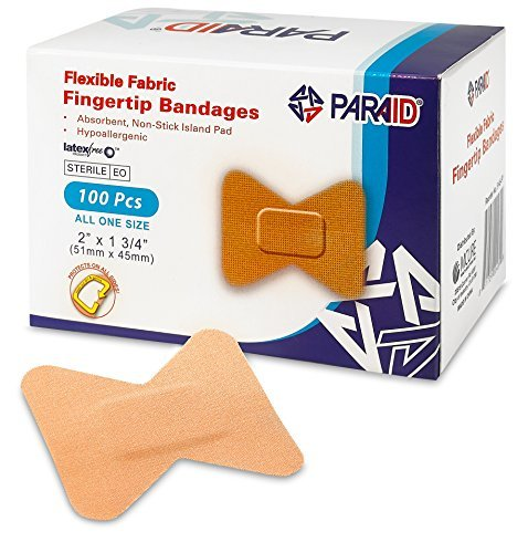 Flexible Pflaster Verbände - Biegbares Material, Selbsthaftende Fingerkuppenpflaster für die Pflege und Schutz von Wunden vor Infektionen (100er Packung) -