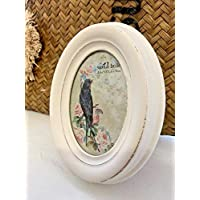 Homes on Trend Photo Frame Family Shabby Wedding Graduation Small White Picture Freestanding Vintage Style Ornate Home Decor Accessories Ornaments Living Room Bedroom Birthday Anniversary Present