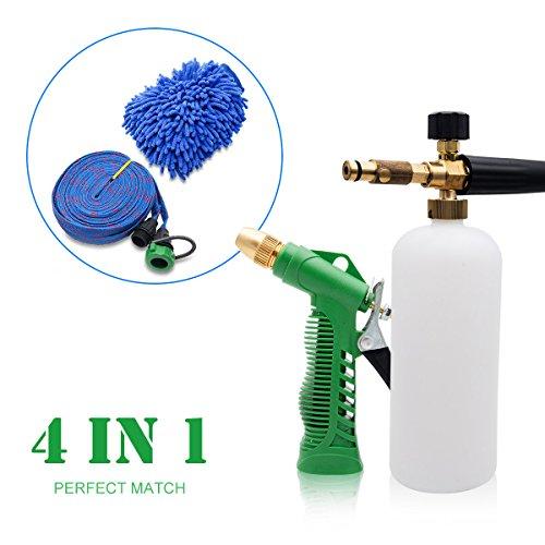 MASO Premium Lot de 2 Gants de Lavage de Voiture, 24,1 x 17 cm, en Microfibre Chenille Premium, Gants de Lavage pour Voiture/SUV/Camion (Vert)