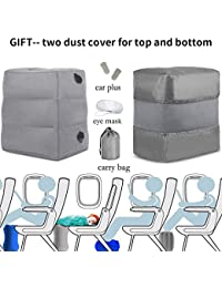 HAOBAIMEI Travel/Airplane Pillow for Leg/Foot Rest, Inflatable Multi-function for kids to Lay Down on Long Flights,Suitable for Airplanes, Cars, Buses, Trains, Office, Home, Camping