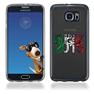 Coque Souple en gel pour Samsung Galaxy S6 Edge avec impression Italie et logo rugby WCR 2015