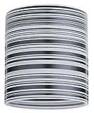 Paulmann 600.05 DecoSystems Schirm Zyli max. 50W Weiß/Schwarz gestreift 60005 Glasschirm Zubehör Ergänzung
