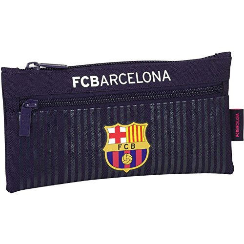 Safta Estuche Doble Cremallera F.C.Barcelona 2ª Equipacion 16/17 Oficial Escolar 230x110mm