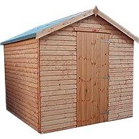 Jardín cobertizo madera superpuesto jardín cobertizo con piso, cobertizo de madera jardín,Red Brown