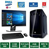 "Desktop PC - Intel Core I5 660 Processor / 18.5"" LED Monitor / 2GB Graphics / Windows 10 Pro / 1TB HDD / DVD / WiFi / Keyboard / Mouse"