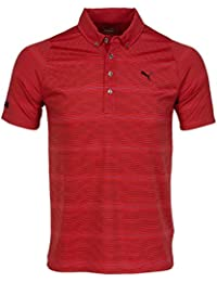 Puma Golf Lux YD Stripe Polo Shirt Dry Cell Tech Herren