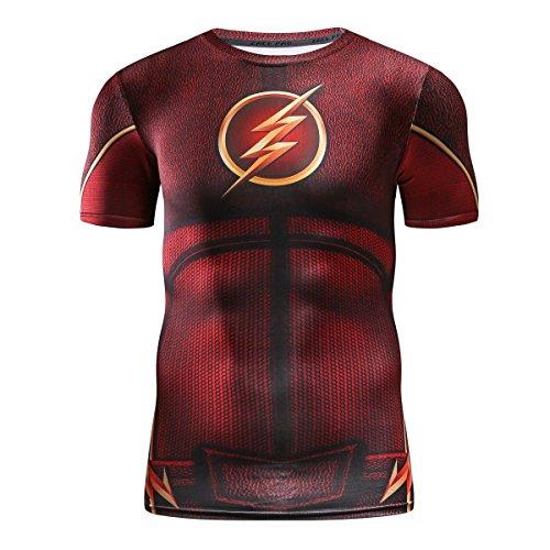 Cody Lundin Herren Lightning Hero T-Shirt Kurzarm Shirt Sport Fitness Training Tees Held Kurze Presshülse (L, Color-a) -