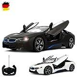 BMW i8 Vision Limited Edition - RC ferngesteuertes Lizenz-Fahrzeug im Original-Design, Flügeltüren fernbedienbar, Modell-Maßstab 1:14, Ready-to-Drive, Auto inkl. Fernsteuerung