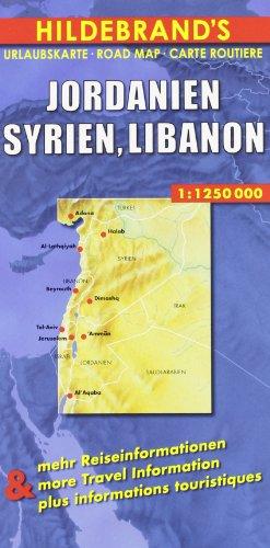 Hildebrand's Urlaubskarten, Nr.84, Jordanien, Syrien, Libanon (Hildebrand map series) (Damaskus-serie)
