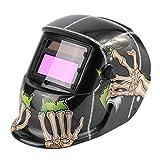 Solarbetriebene Auto-Verdunkelung Schweißhelm Schweißen Gesichtsmaske Arc Tig Mig Maske Schleifen Schweißmaske Schädel Muster