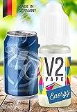 V2 Vape E-Liquid Energy-Drink - Luxury Liquid für E-Zigarette und E-Shisha Made in Germany aus natürlichen Zutaten 50ml 0mg nikotinfrei