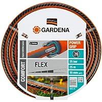 """GARDENA Comfort FLEX Schlauch 19 mm (3/4""""), 25 m: Formstabiler, flexibler Gartenschlauch mit Power-Grip-Profil, aus hochwertigem Spiralgewebe, 25 bar Berstdruck, ohne Systemteile (18053-20)"""