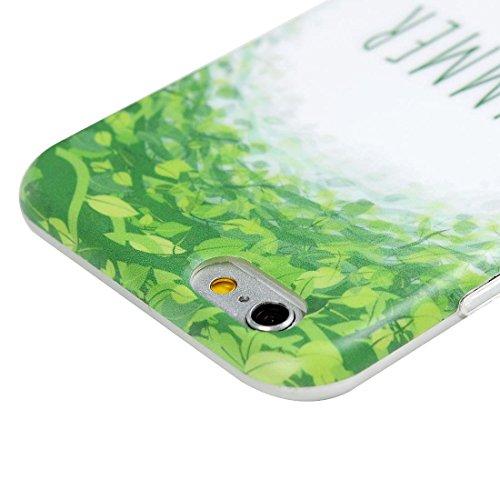 Mavis's Diary Coque iPhone 6 Plus/iPhone 6S Plus TPU Souple Dessin Housse de Protection Étui Téléphone Portable Phone Case+Stylet+Bouchon Anti-poussière Coloré motif 3