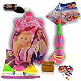 #3: Godofsale Holi Pressure Water Gun Pichkari with Back Pack Tank Squirter In Kids Favourite Characters - Size 1.5 ltrs ( Barbie) + 200 Balloon,1 Pack OF Color Capsule, 1 Chandan, 2 holi color and 1 Gulal Free