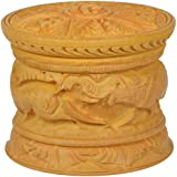 Sharada International White Wooden Decorative Box With Lid (7.5 Cm X 7.5 Cm X 6 Cm, Brown)