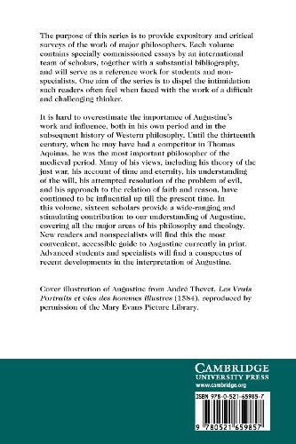 The Cambridge Companion to Augustine Paperback (Cambridge Companions to Philosophy)