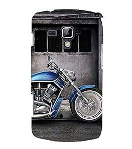 Fantastic Blue Bike 3D Hard Polycarbonate Designer Back Case Cover for Samsung Galaxy S Duos 2 S7582
