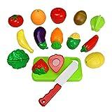 Giochi Frutta Verdura Giocattolo Cucina Set Giocattoli Plastica Gioco Prima Infanzia, 15 Pezzi