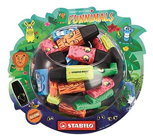 Stabilo 07/50-05 Textmarker Boss Mini Funnimals, 50er Display