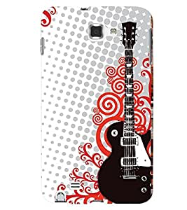 Printvisa Guitar Pattern Back Case Cover for Samsung Galaxy Note i9220::Samsung Galaxy Note 1 N7000