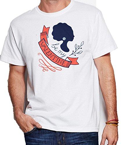 Renowned Be My Valentine Queen Men's T shirt Weiß