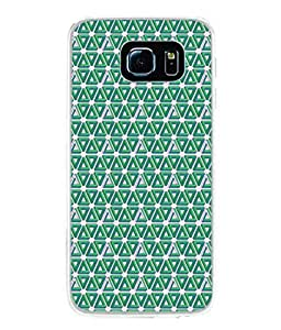 PrintVisa Designer Back Case Cover for Samsung Galaxy S6 Edge :: Samsung Galaxy S6 Edge G925 :: Samsung Galaxy S6 Edge G925I G9250 G925A G925F G925Fq G925K G925L G925S G925T (Pyramid triangles Blue design)
