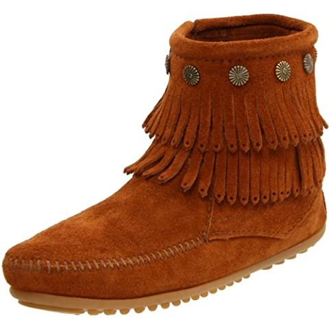 Minnetonka Hi Top Back Zip Boot 691T - Botas de ante para mujer