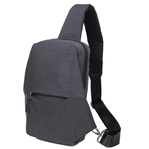 EGOGO Reisen Wandern Schleuder Tasche Schultertasche Chest Pack Zweck Umhängetasche für Männer und Frauen E526-2 Schwarz