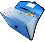 #10: TRANBO Full Expanding A4 Document Organizer with 13 Pockets, Handle, Index Tab (Blue)