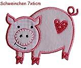 2badges aufbügler Rustine applications Cochon 7x 6cm Rose Dino Dragon 9,5x 7cm Kit pour réparer des enfants Vêtements avec design TrickyBoo Zurich Suisse pour l'Allemagne et l'Autriche