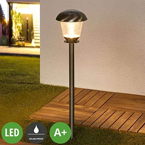 Lampade solari \'Nela\' (Moderno) colore Grigio, in Acciaio Inox (6 luci, A+, lampadina inclusa) di Lampenwelt | lampada solare, lampada solare giardino