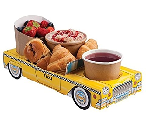 x10 New York Yellow Taxi Cab Car - Party Meal Food Trays Snack Lunch Box Plate Tray by Mustbebonkers
