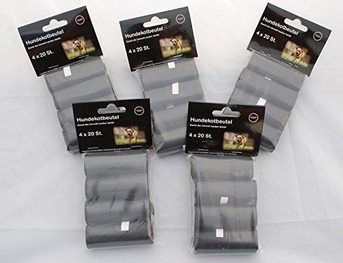 640 stück Hundekotbeutel Kotbeutel für Hunde sehr groß Schwarz 32x20 TOP Dog Dirt Bag 32 Rollen á 20 Tüten Test