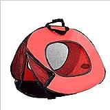 ZHENG Haustier-Tasche Multifunktionsklapptier Haustier Tasche atmungsaktiv,Red,M