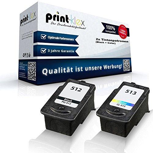Preisvergleich Produktbild Kompatible Tintenpatronen Sparset für Canon PG-512 CL-513 MX320 MX330 MX340 RFB MX350 MX360 MX410 MX420 2969B001 2971B001