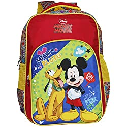 Disney School Bag For Boys & Girls 05+ Years Mickey Mouse Pluto 13 (L) Red (Dm-0051)