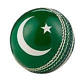 Hunts County Cricket-Ball mit internationaler Flagge, Pakistan