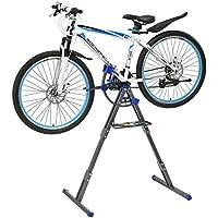 [pro.tec] Soporte caballete de reparación para bicicletas bici ajustable (66x33cm) - negro / gris