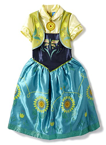 Girls Fancy Dress Costume Disney Frozen Fever Anna Dress Up Age's 3-8 Years