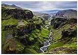 Panorama Poster Islande Cerce d'or 70 x 50 cm | Imprimée sur Poster de Grande qualité | Tableau Nature | Poster Paysage Zen | Moderne Art pour la Maison | Décoration Murale | Poster Art